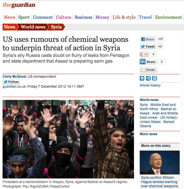 Pau Rigol In Syria – The Guardian Tearsheet | ZUMAland com