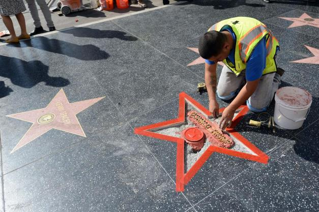 Trump Star Vandalized On Hollywood Walk Of Fame