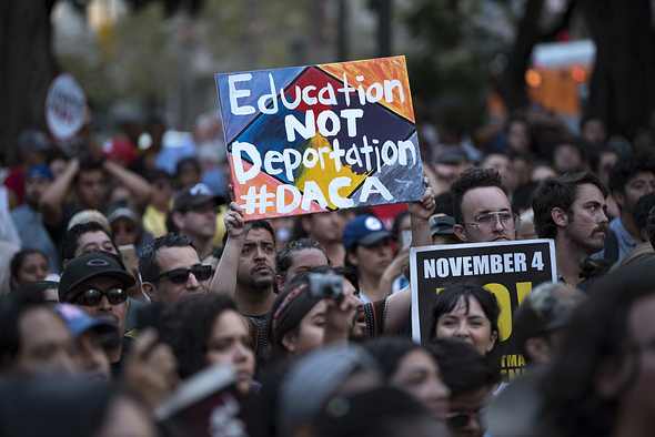 DACA Supporters Protest in Los Angeles