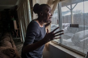 Mar 20, 2018 - Sacramento, California, U.S. - SEQUITA THOMPSON, recounts the horror of seeing her grandson Stephon Clark dead in her backyard after he was shot by police in Sacramento. Stephan Clark was holding only his cellphone when he was fatally shot Sunday night by two Sacramento police officers who fired at him 20 times. Clark, 22, encountered the officers in the backyard of the south Sacramento home where he was staying with his grandparents. (Credit Image: © Renee C. Byer/The Sacramento Bee via ZUMA Wire).