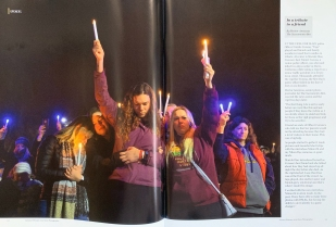 ZUMA Press proudly represents the greatest photographers and newspapers in the world! Some of which were featured in the January/February 2019 issue of 'News Photographer'. PICTURED: January 12, 2019 - Davis, CA, USA - Mariah Diaz, center raises a candle and taps is played on Saturday, Jan. 12, 2019, in Davis while being joined by family and friends of Davis police officer Natalie Corona during a vigil in her honor at Central Park in Davis. (Credit Image: © Hector Amezcua/Sacramento Bee/TNS via ZUMA Wire
