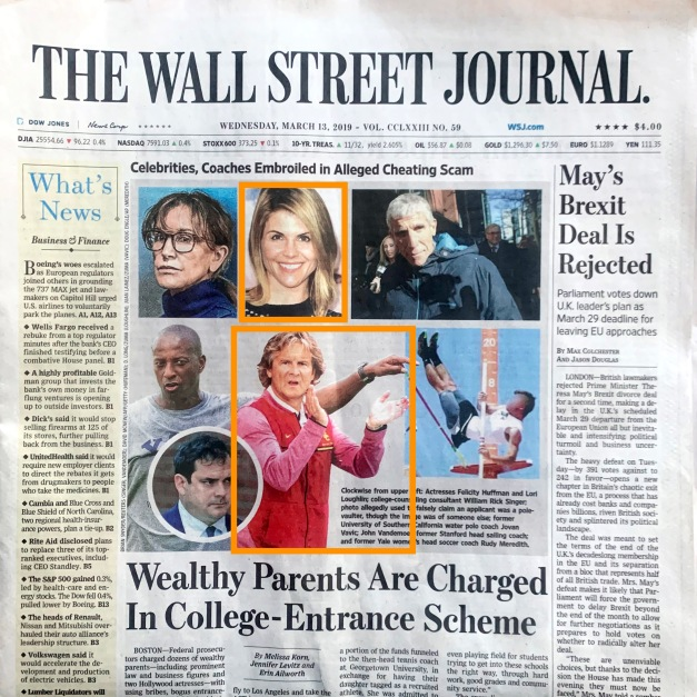 The Wall Street Journal Cover Photo by D. Long/Globe Photos