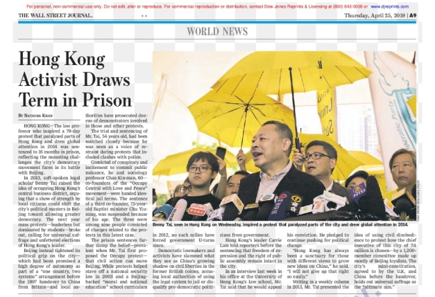 USED_Wall Street Journal_printed_20190425 issue_Photo_Liau Chung Ren_For ZUMA_
