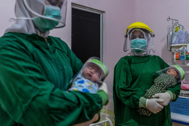 COVID-19: PREVENTION: Face Shields for Babies in Indonesia